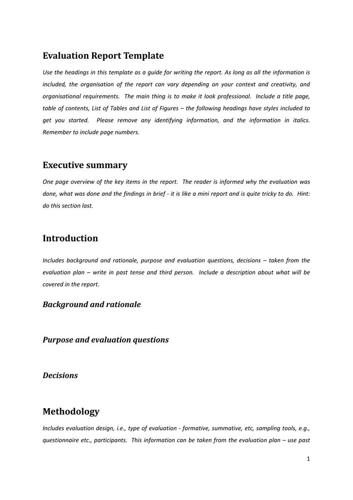 One Page Summary Template. Executive Summary Template More Best 25