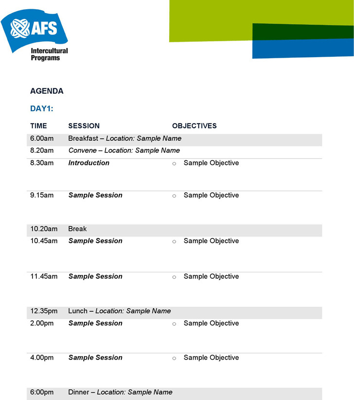 Event Agenda Event Program And Agenda Arabiangolf Com Sample