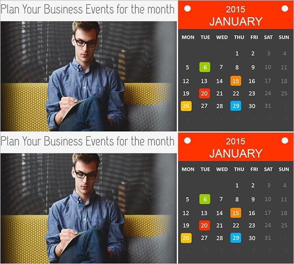 Event Planner Calendar Template