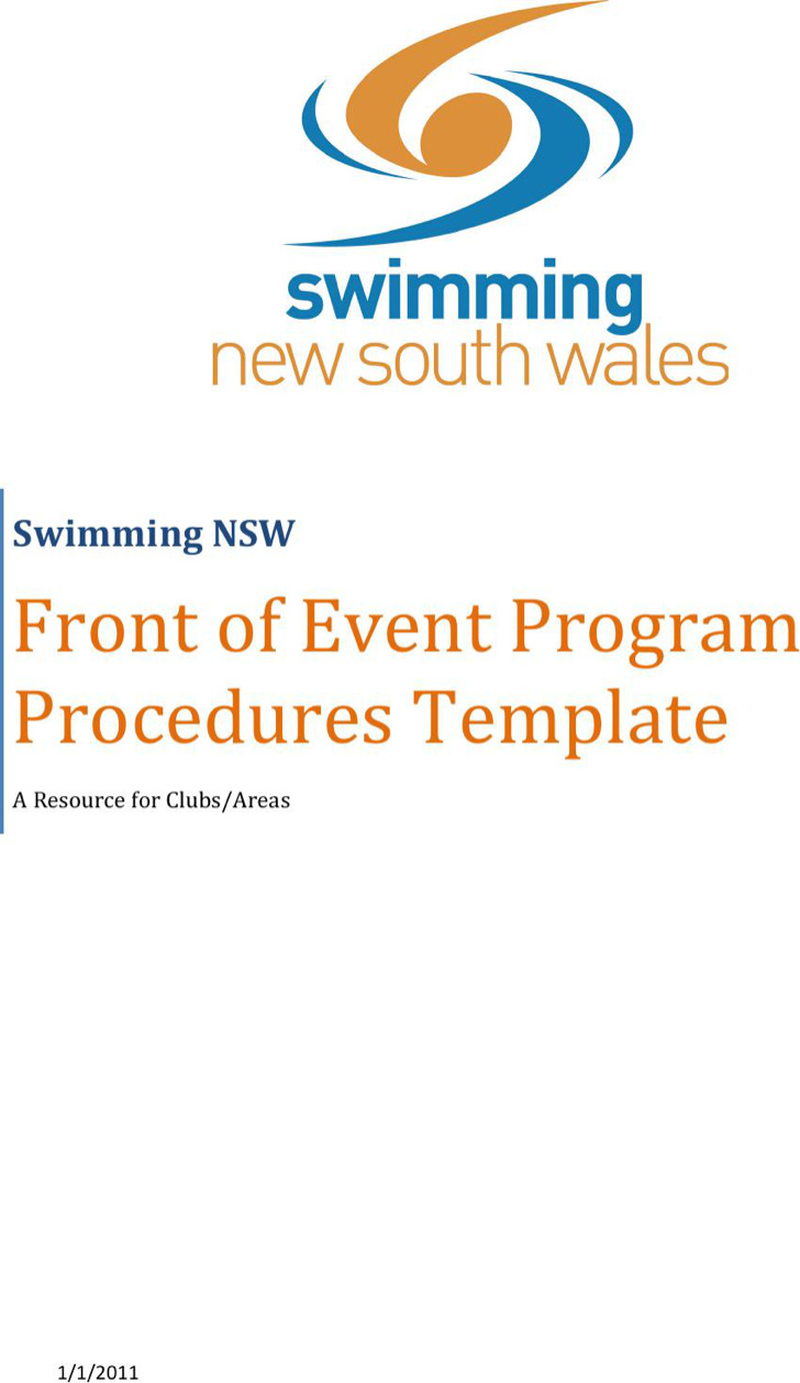Program Word Templates – Program Templates Word