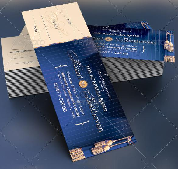 Event Prom Ticket Template