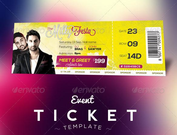 Event Tickets Template for MAC
