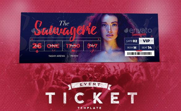 Event Tickets Template Premium PSD Format Download