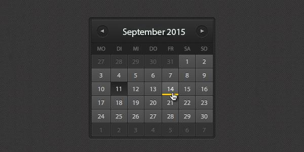 Events HTML Calendar