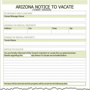 Eviction Notice to Tenance