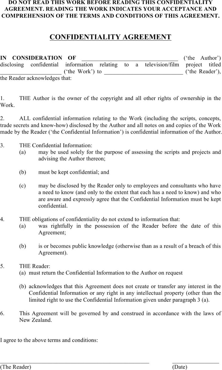 Confidentiality Agreement Pdf. Help Desk Non U2026