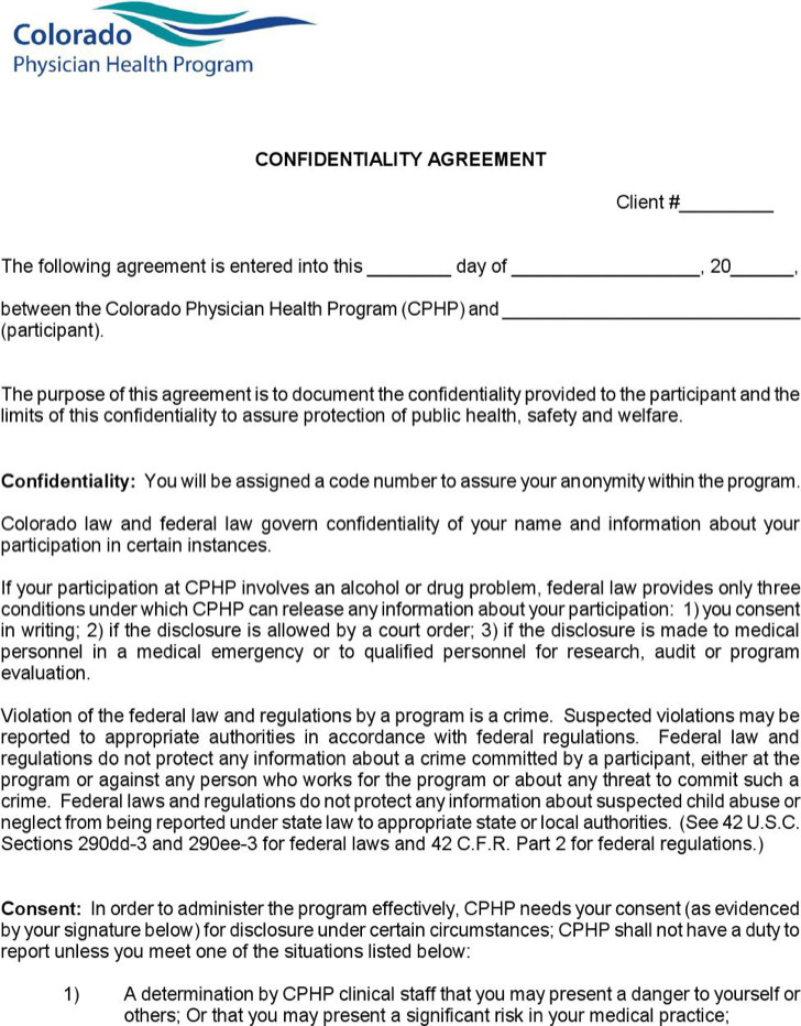 Example Client Confidentiality Agreement For Physician