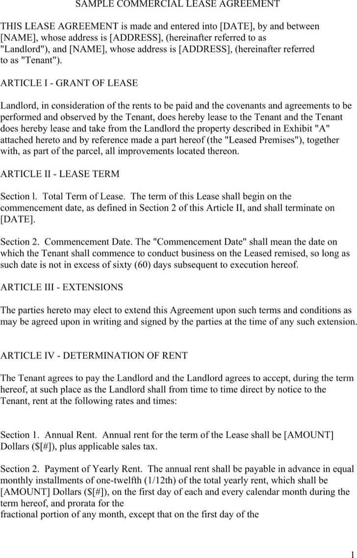 FREE UK Commercial Lease Agreement U2013 FindForms.com Commercial Property Lease  Agreement Contract For VIC Warehouses, Offices, Factories And Industrial  Real ...