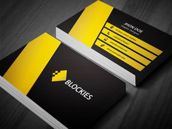 Example Corporate Business Card Template