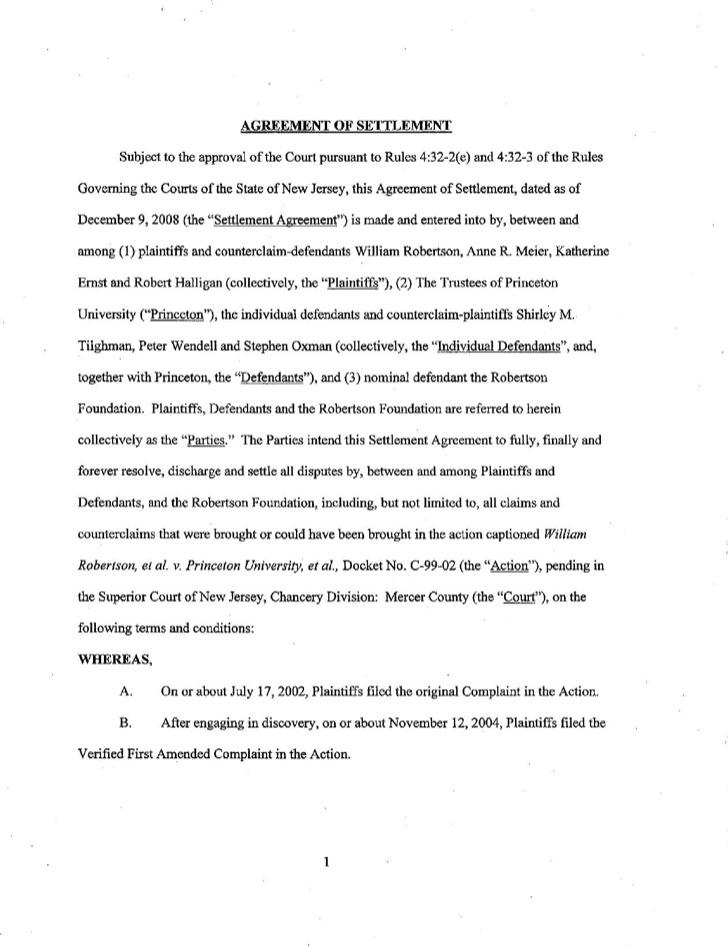 Example Defendant Confidential Settlement Agreement