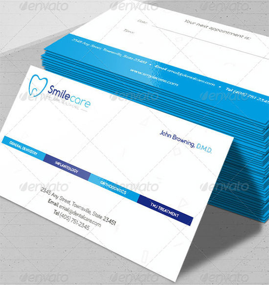Example Dental Business Cards