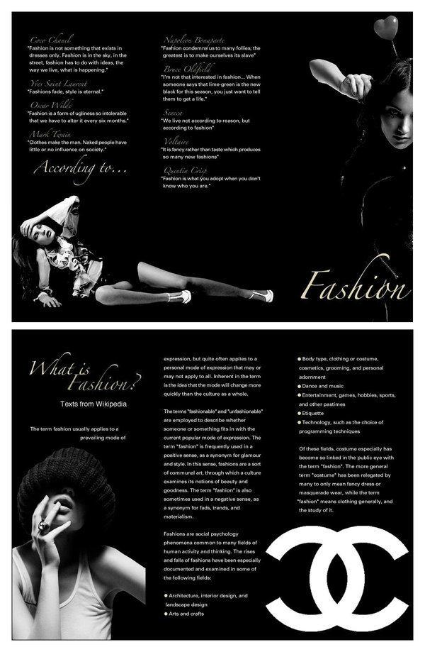 Example Fashion Brochure