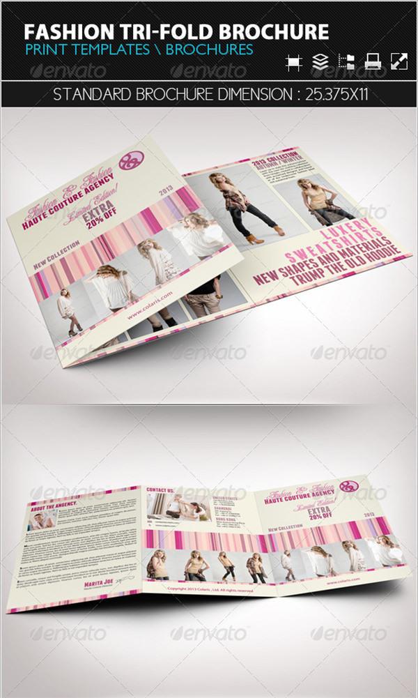 Example Fashion Tri-Fold Brochure Template
