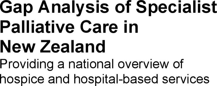 Example Gap Analysis Of Specialist Palliative Care