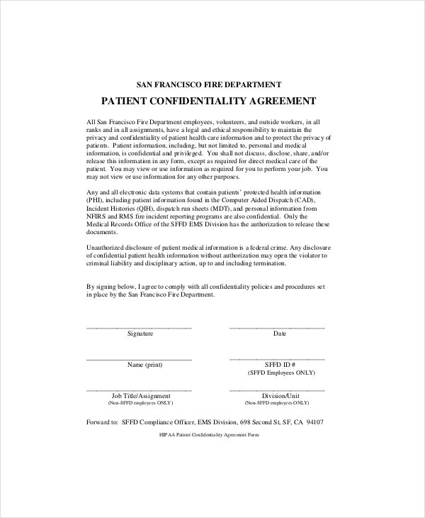 Unusual Confidentiality Agreement Form Template Ideas Documentation