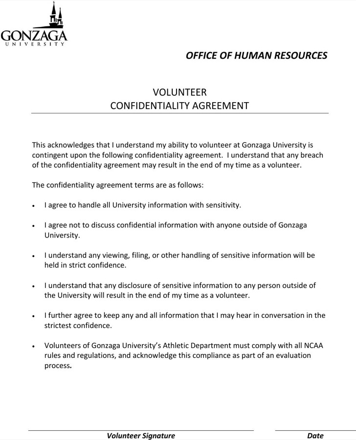 Human Resources Confidentiality Agreement Templates  Download