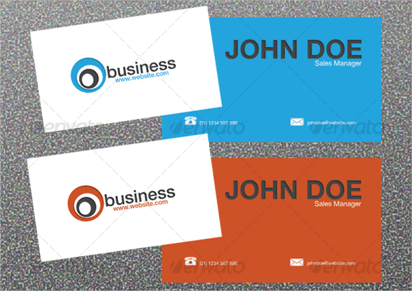 Example Letterpress Business Card Template