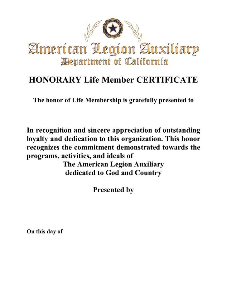 Example Life Membership Certificate PDF Download  Life Membership Certificate Template