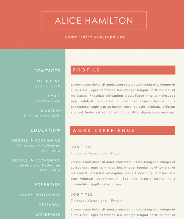Example Microsoft Resume Template