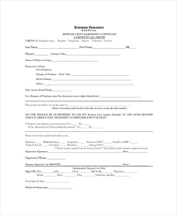 Confidentiality Agreements Form Non Disclosure Agreement Template