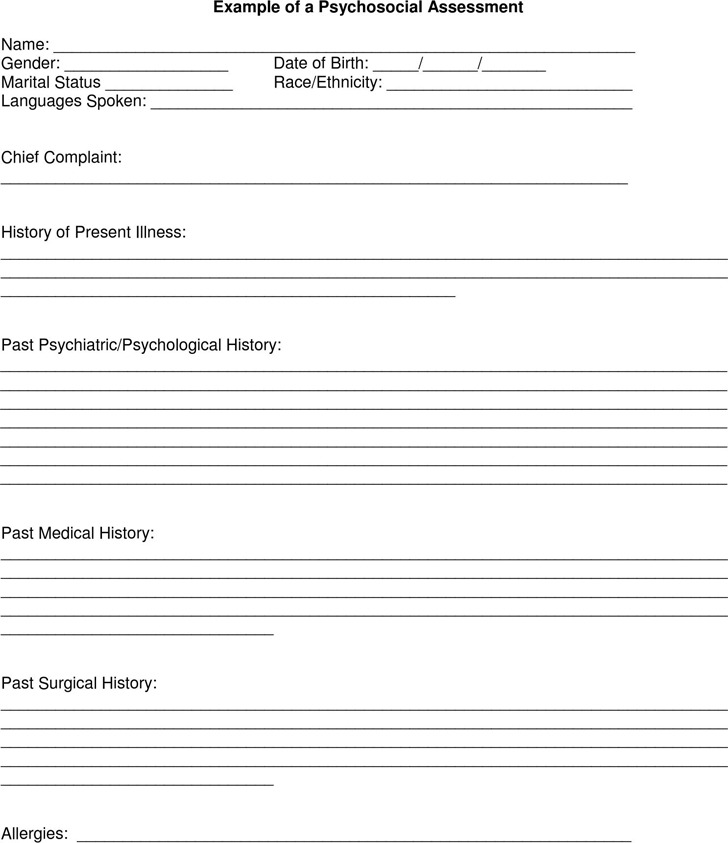 Psychosocial Assessment Form  Download Free  Premium Templates