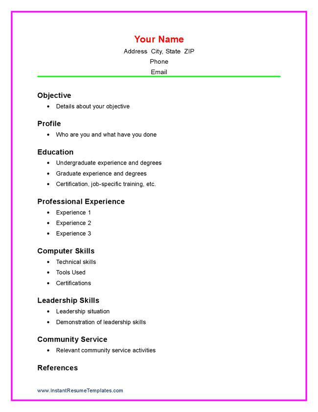 high school resume template download free premium templates forms