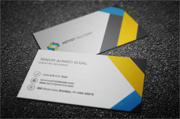 Example Professional Business Card Template