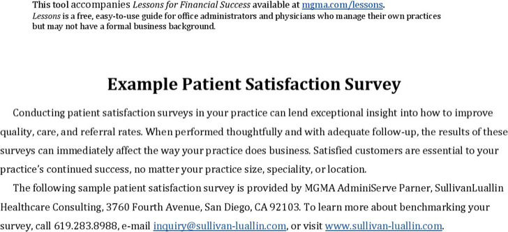 Health Services Survey Template | Download Free & Premium