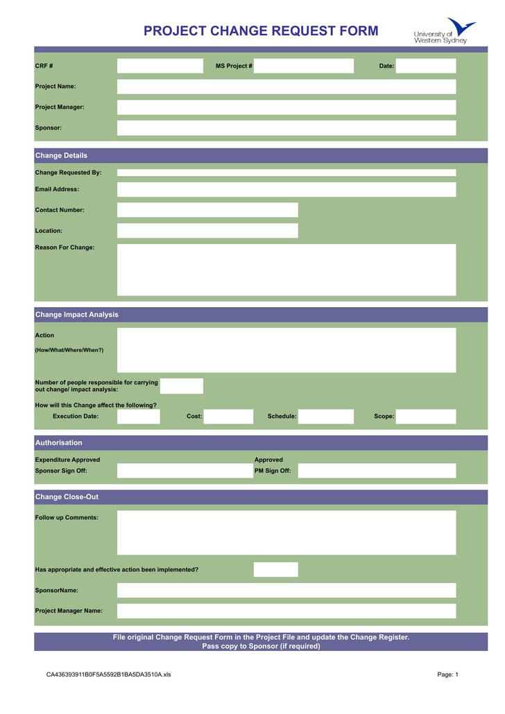 Change Order Template  Download Free  Premium Templates Forms
