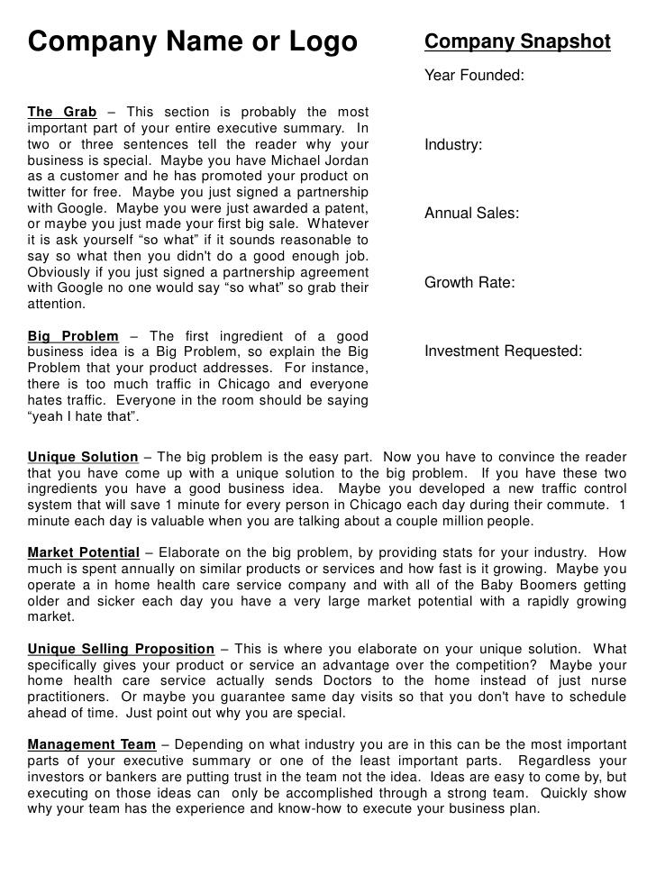 Executive Summary Template of Campus