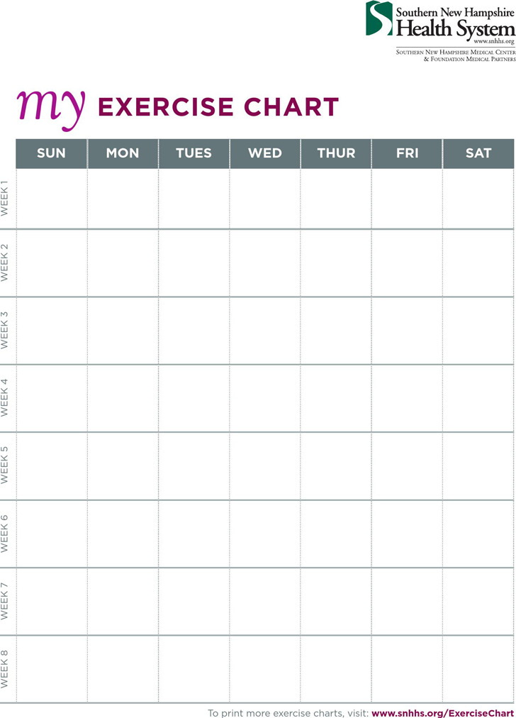 Exercise Chart