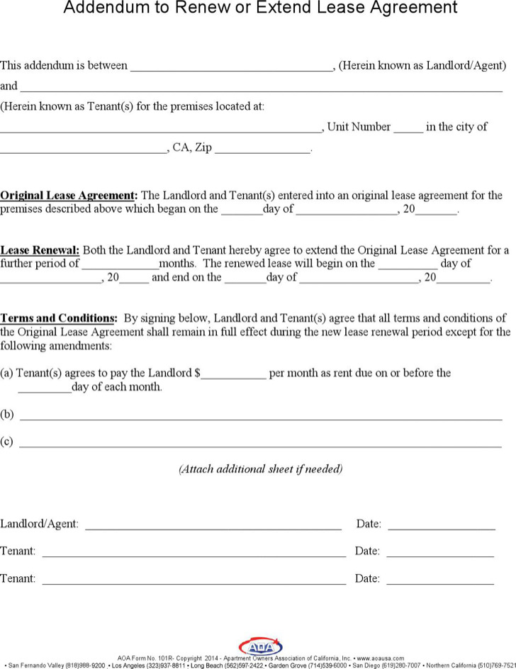 Sample Lease Renewal Templates | Download Free & Premium Templates