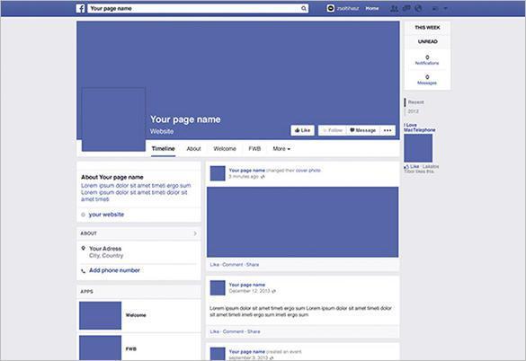 Facebook Page Mockup PSD