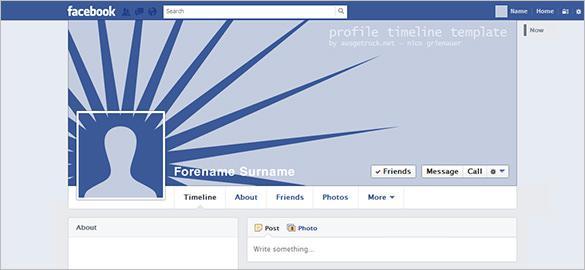Facebook User Timeline Template