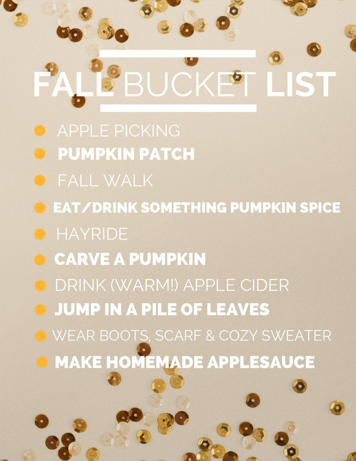 Fall Bucket List Template1