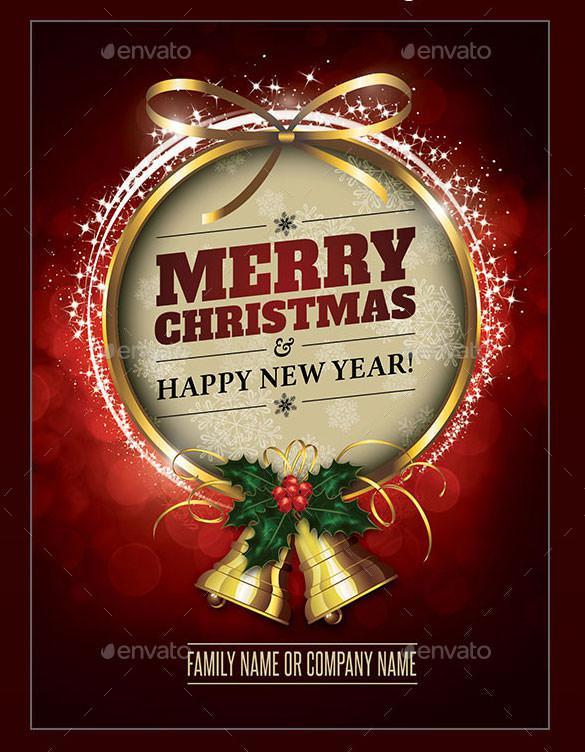 Family Christmas Card Template Photoshop PSD Design