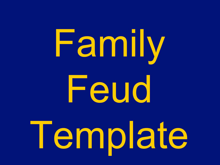Family Feud Powerpoint Template | Download Free & Premium