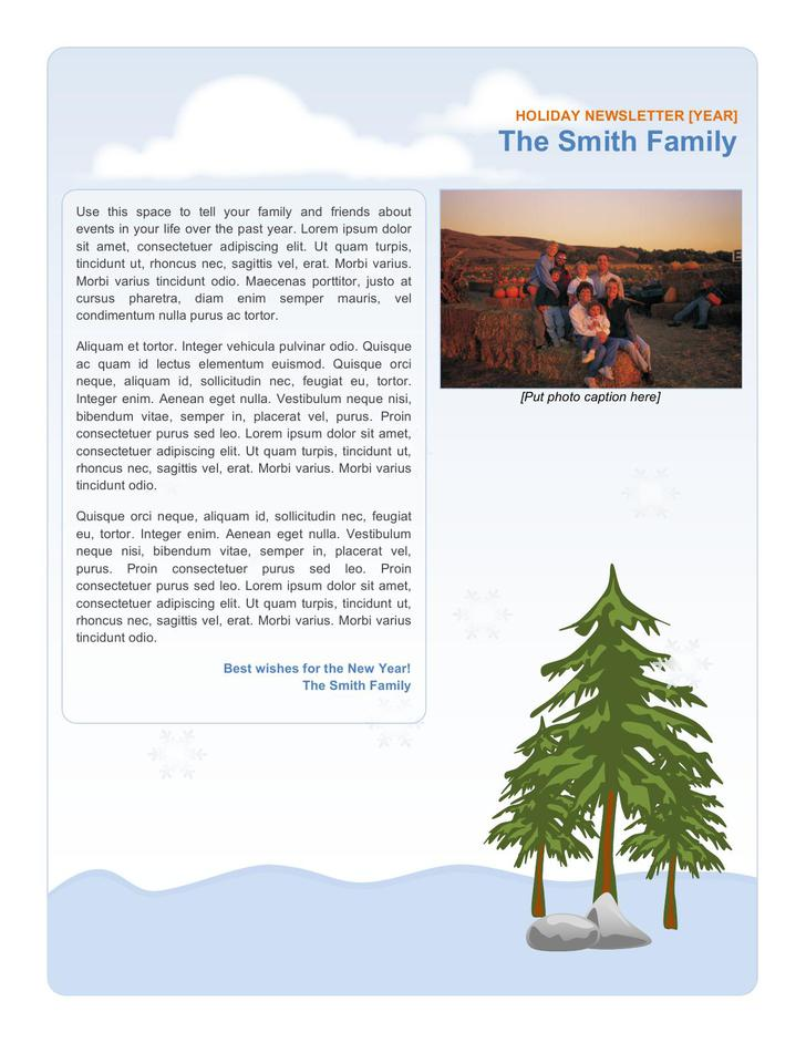 Family Newsletter Template  Download Free  Premium Templates