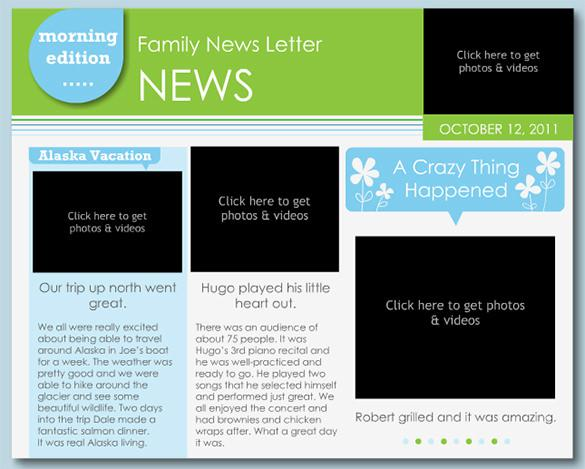 Family Newsletter Template Creator Software Download