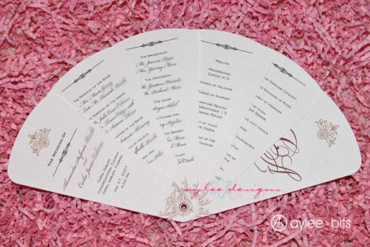 Fan Programs for Your Wedding from
