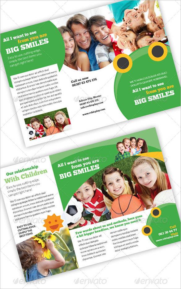 Fantastic Brochure Temple For Children Care-$8