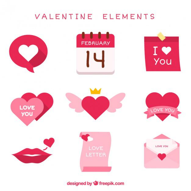 Fantastic Pack Of Valentine Items In Pink Tones
