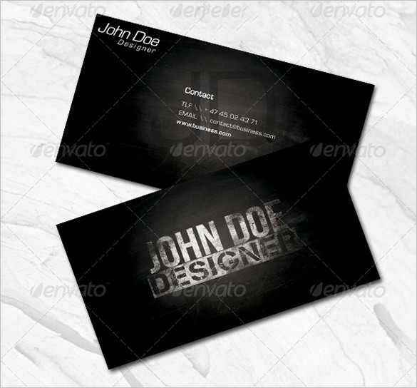 Fantastic Premium Black Business Card