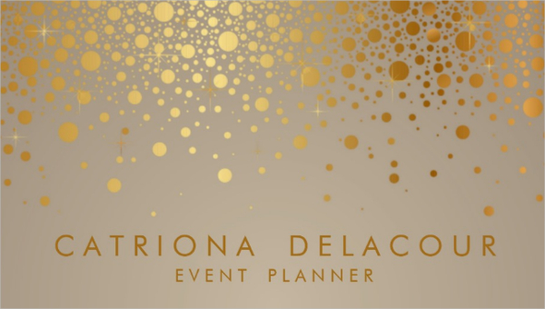 Fashion Gold Foil Business Card