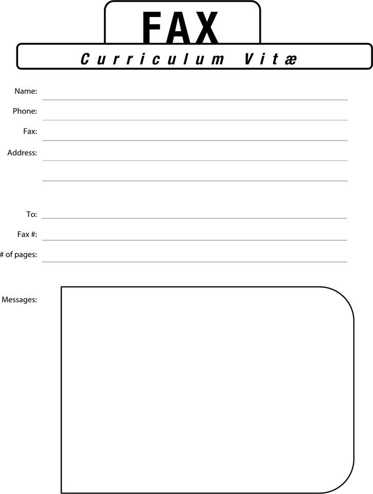 Fax Cover Sheet for CV – Fax Cover Sheet for Cv