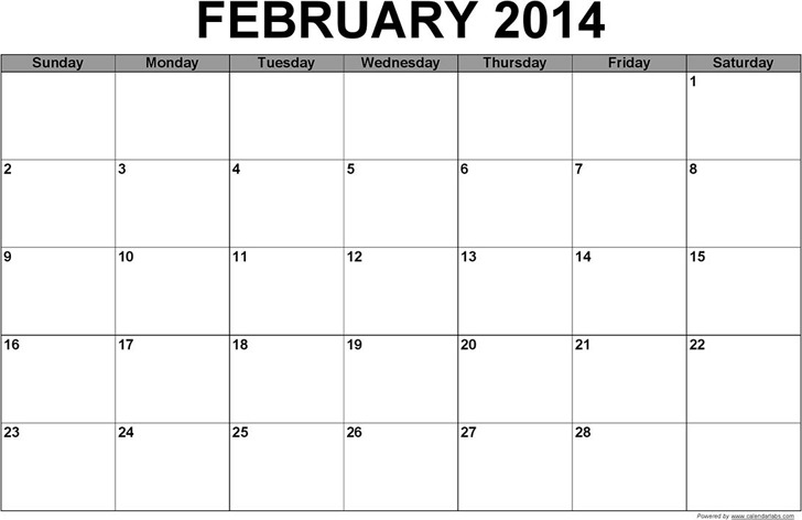 February 2014 Calendar Download Free Amp Premium Templates