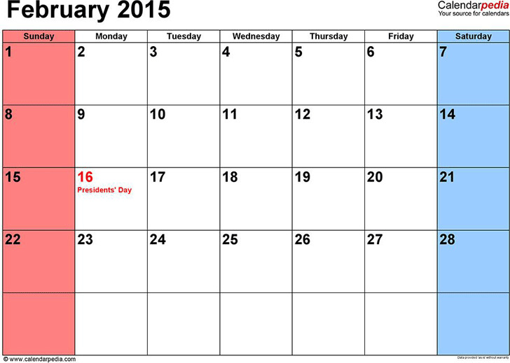 February 2015 Calendar Download Free Amp Premium Templates