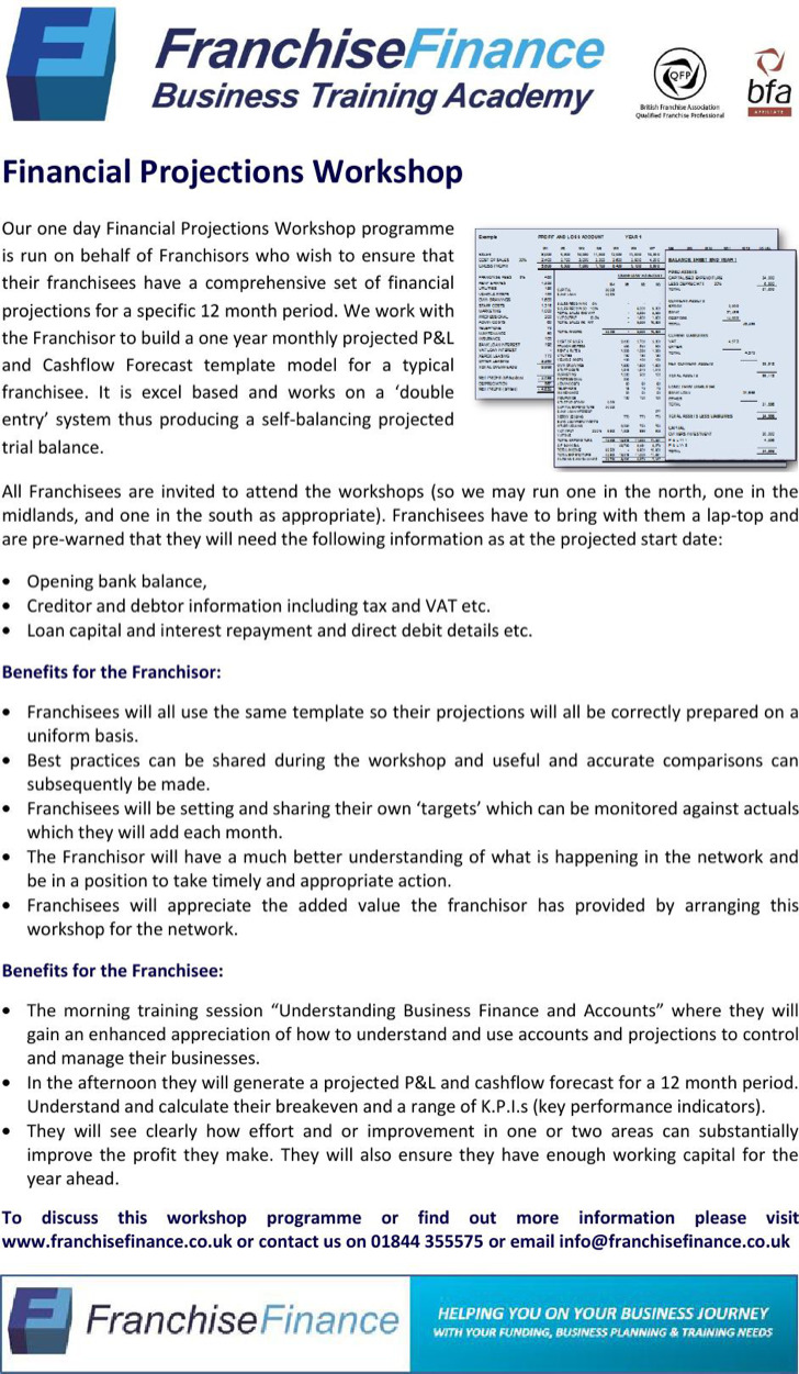 Financial Projections Workshop Template