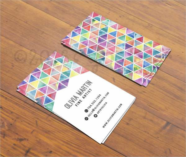 Fine Artistic Business Card