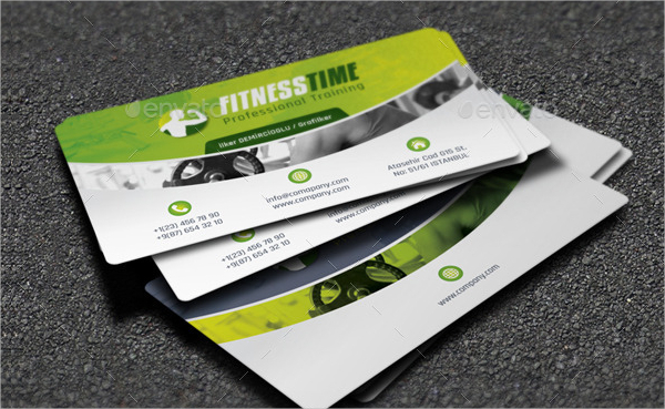 Fitness Salon Business Card Template